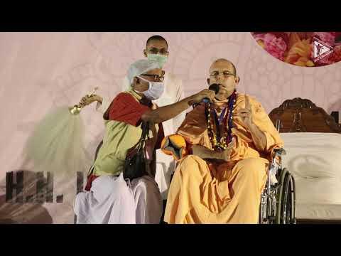 Grand welcoming talk by H.H. Jayapataka Swami Maharaja upon his arrival.