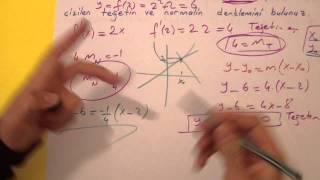 Türevin Geometrik Anlamı T.U.1 Şenol Hoca Matematik