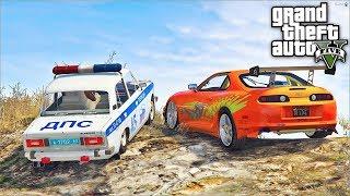 Погоня В Gta 5 - Угоняем На Тойота Супра От Копов! Toyota Supra Топит От Полицейских! ⚡Гарвин
