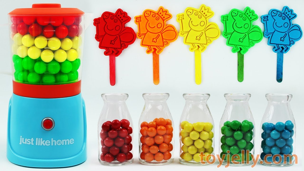 Play Doh Peppa Pig Popsicles Ice Cream Blender Mixer Toys