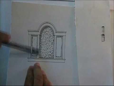window pencil drawing. window pencil drawing