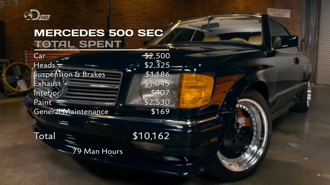 mercedes benz 500 sec wheeler dealers youtube. Black Bedroom Furniture Sets. Home Design Ideas