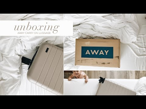 UNBOXING OUR AWAY CARRY-ON LUGGAGE 2017