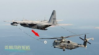 The Most Amazing: The Biggest and Heaviest Helicopter Refueling from a Plane
