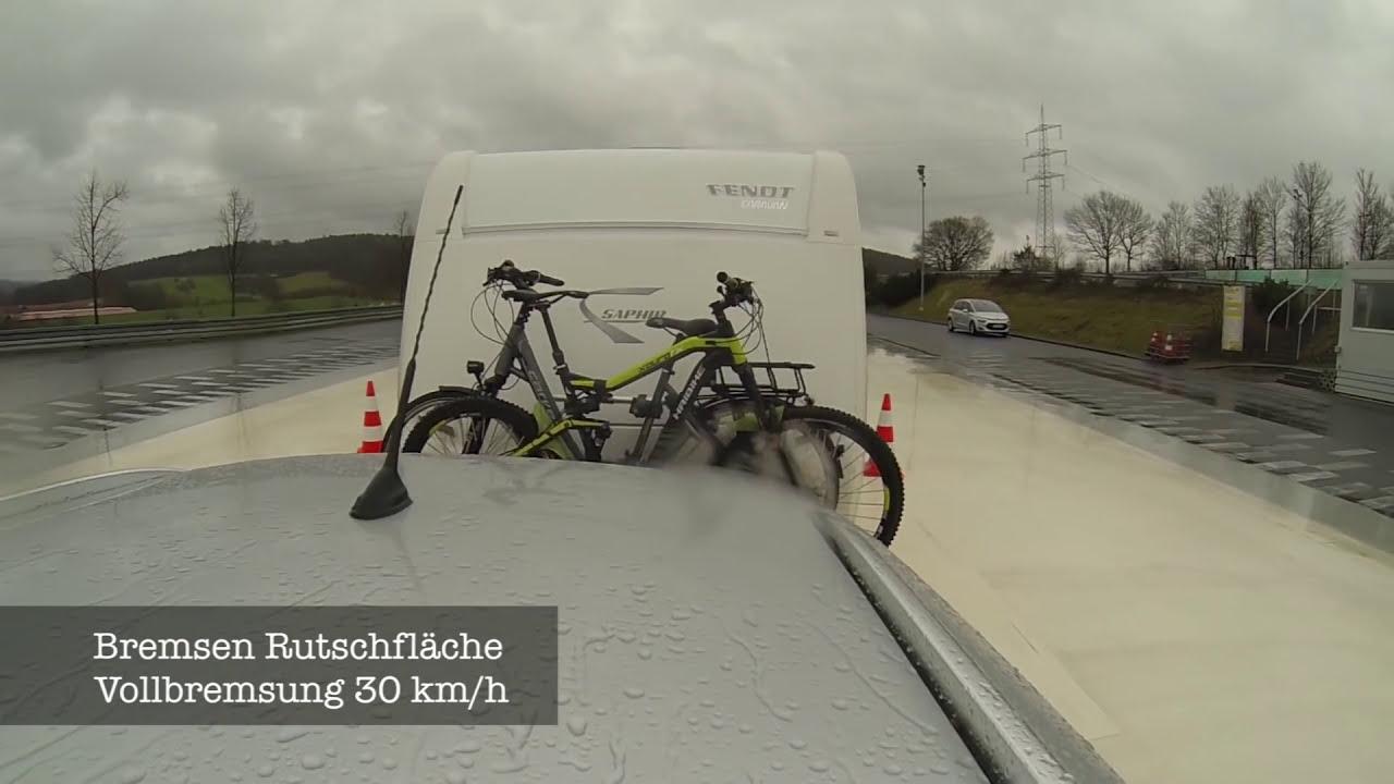 69b83a286fb0f2 Wohnwagen Bremstest   Thule Fahrradträger Auf Deichsel - Fivepixel ...