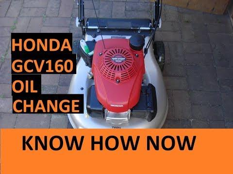Honda Lawn Mower GCV160 Oil Change