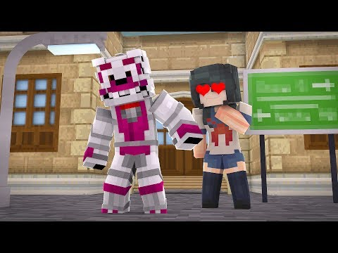 Yandere Falls In love with Funtime Foxy all over Again?! (Minecraft Yandere Roleplay)