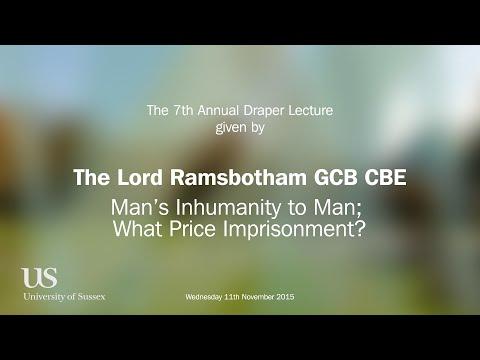 Draper Lecture 2015 - Lord Ramsbotham - Man