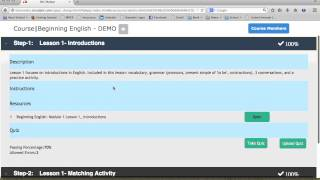 OLE Basic e-Learning Library Demo - Student Functionality