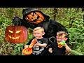 Halloween Pumpkin Nerf War!! Jack O' Lantern Comes To Life!!!