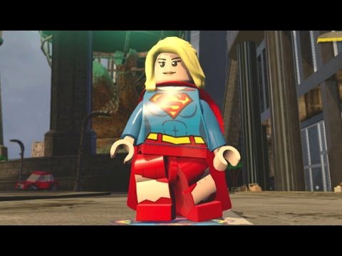 lego dimensions supergirl free roam gameplay