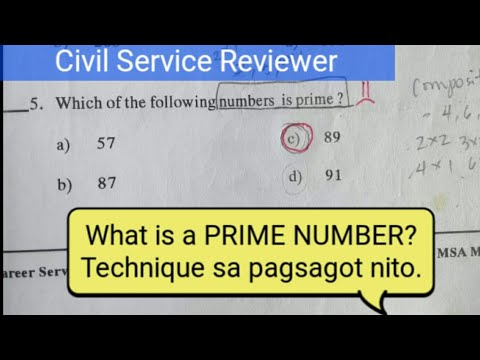 What is a PRIME NUMBER? ways of finding the prime number for civil service exam