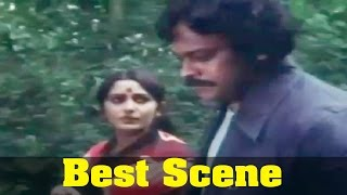 47 Natkal Movie : Chiranjeevi, Jayaprada, Forest Scene