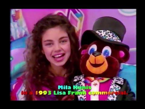 Mila Kunis Lisa Frank Commercial!