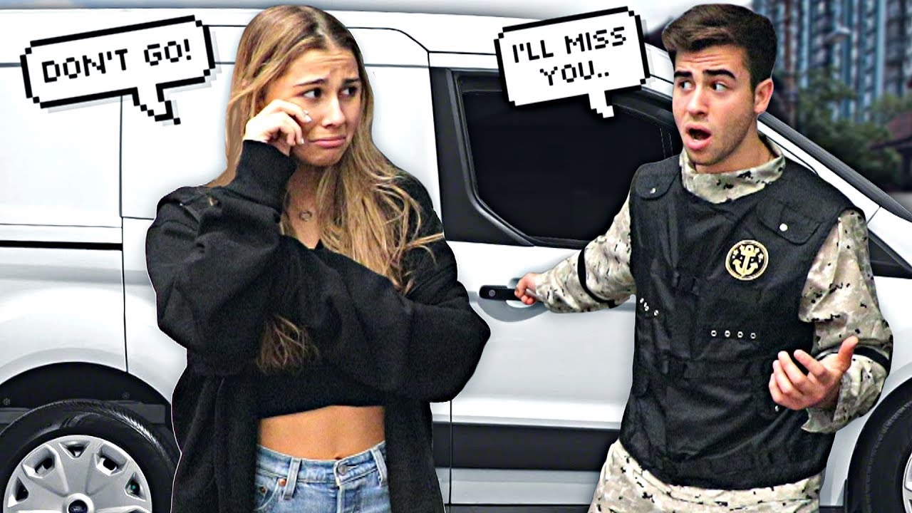Leaving My Girlfriend To Join The Army.. (PRANK)