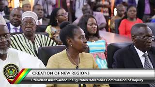 Inauguration of 9-Member Commission of Inquiry