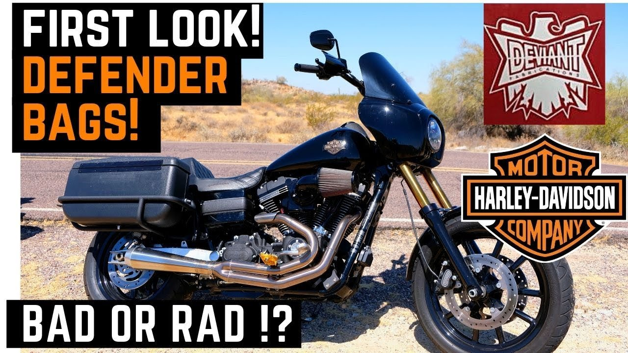Bad or Rad? Deviant Fabrications Defender Bags: Install, Walk Around, FXDLS  Dyna Low Rider S Harley