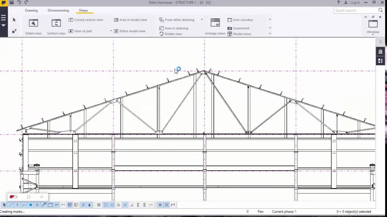 Generating 2D Drawings in TEKLA STRUCTURES 2016