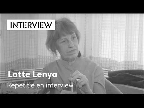 Lotte Lenya, repetitie en interview, Holland Festival 1971