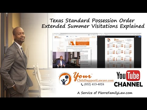 Summer Possession Explained Under the 2017 Texas Standard Possession Order
