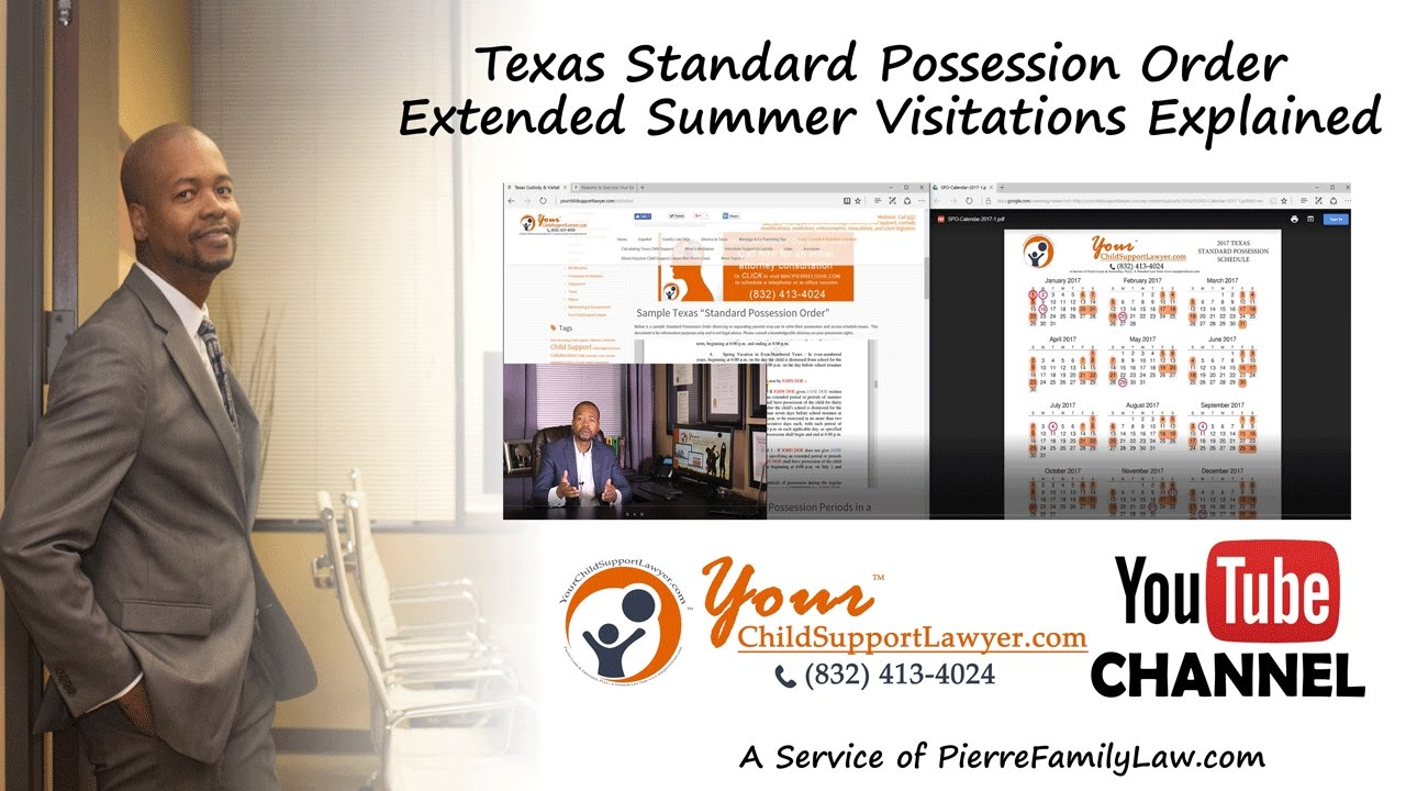 Summer Possession Explained Under The 2017 Texas Standard Possession