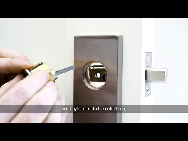 How to install Baldwin Estate Single Escutcheon handleset