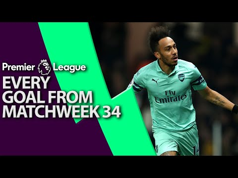 Every goal from Premier League Matchweek 34   NBC Sports