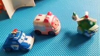 Робокар Поли Рой Эмбер Хели и полицейская станция игрушки детям Обзор на русском   Robocar Poly