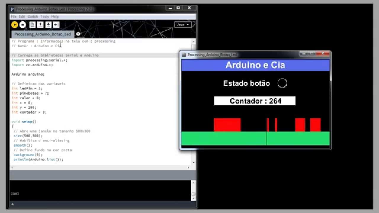 Arduino e cia comunicação processing youtube