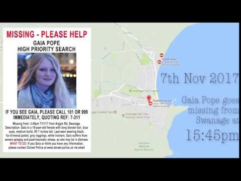 Gaia Pope - Timeline of Events