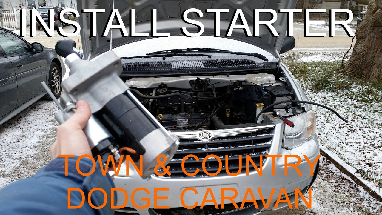hight resolution of replace starter chrysler town country dodge caravan