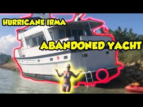 EXPLORING ABANDONED YACHT FROM HURRICANE IRMA! UPDATE OF MY PET FISH | NICOLE SKYES en streaming