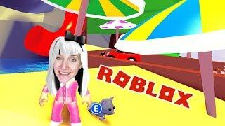 Roblox: ADOPT ME - Mama Nina & Baby Cat Mauzi en Pool Party, en globo aerostático y acampando