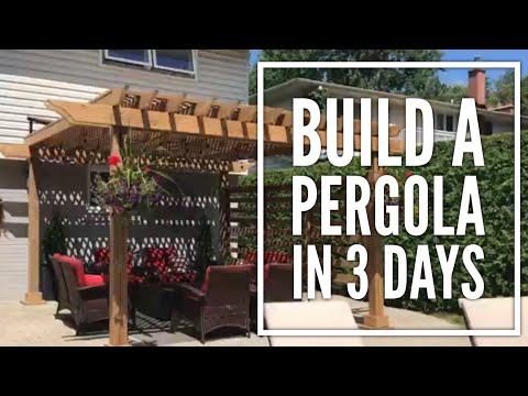 DIY Overview: A Pergola on Concrete Patio in 3 Days.  It's Possible!