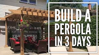 This is the Pergola that I built this summer. It took me 3 full days to finish with the help of one other person the first 2 days of the build.