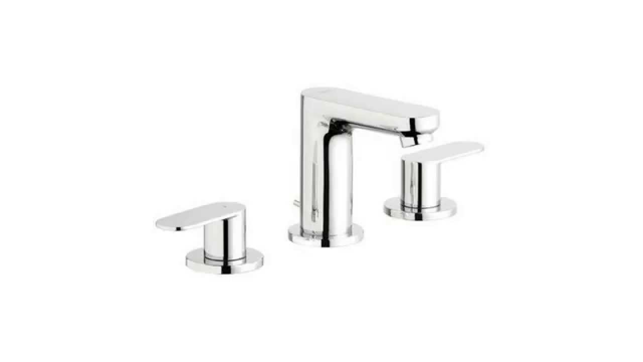Grohe 20199000 Eurosmart Cosmo Wideset Lavatory Faucet Reviews - YouTube