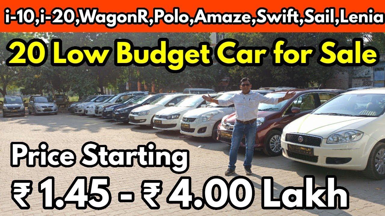 20 Low Budget Car for Sale   Price ₹1.45 - ₹4.00    i-10, i-20,WagonR, Polo,Amaze, Swift,Sail   @NTE