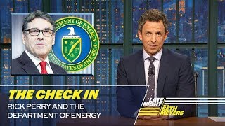 The Check In Rick Perry and the Department of Energy