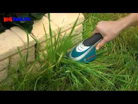 Аккумуляторные ножницы для травы и кусторез Bosch ISIO