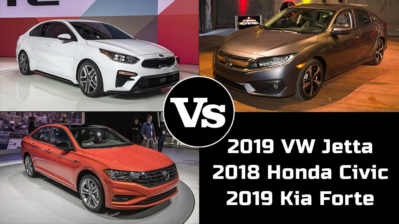 2019 Vw Jetta Vs 2018 Honda Civic Vs 2019 Kia Forte Market Segment Leading Battle