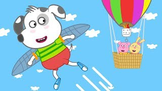 Dalmatian Puppy | I WANT TO FLY | Funny Cartoon Dog For You