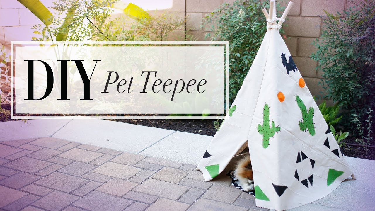 Diy dog cat summer teepee anneorshine youtube for What do u need to build a house