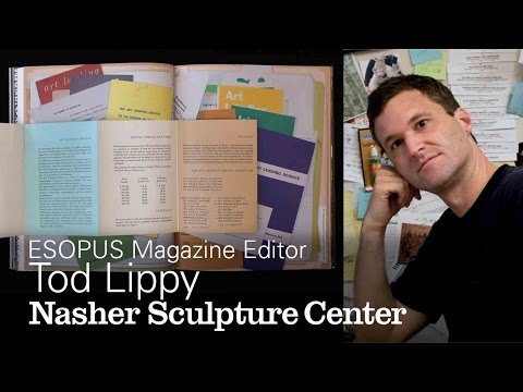 Publication as Sculpture: ESOPUS Magazine Publisher Tod Lippy