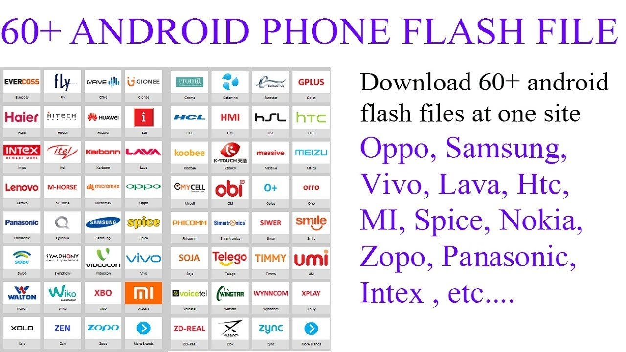 Download All Android phones flash files (samsung,oppo,vivo,MI,Sony etc) |  Stock roms)
