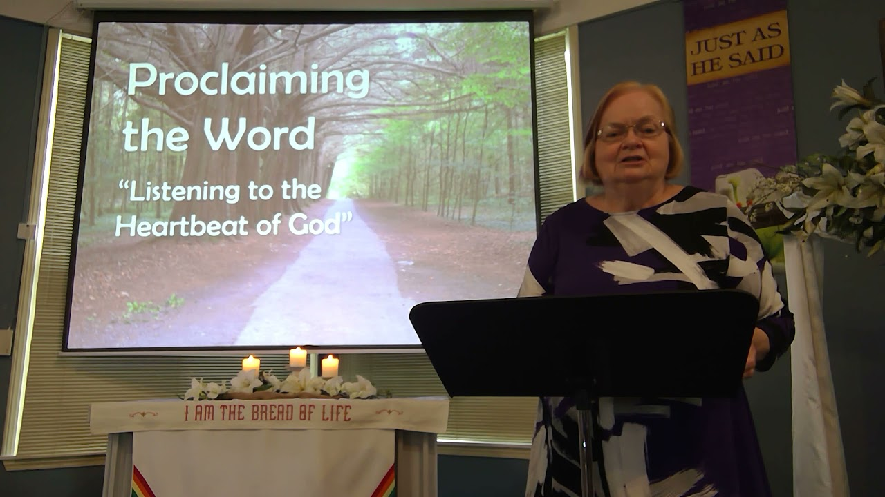 """May 9, 2021 ~ Rev. Julia Price ~ """"Listening to the Heartbeat of God"""""""