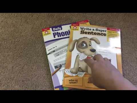 Evan-Moor Resources: Write a Super Sentence and Daily Phonics Grade 1