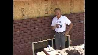 Anchoring and Washing A Brick Wall!