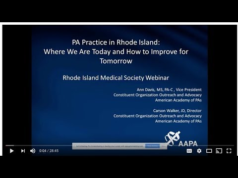 PA Practice in RI Where We are Today How to Improve for Tomorrow
