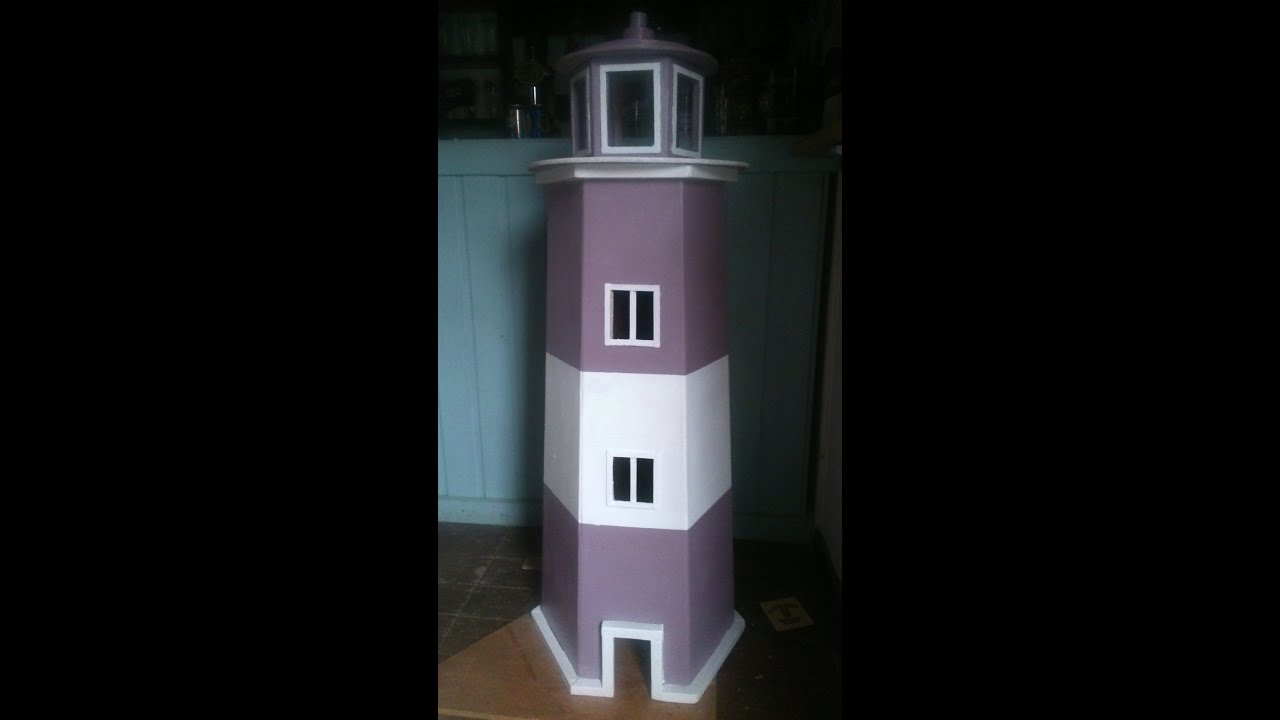 How To Build A Garden Lighthouse Out Of Pallets Step By Step - YouTube