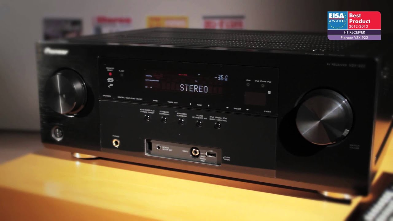Pioneer Av Receiver >> EUROPEAN HT RECEIVER 2012-2013 - Pioneer VSX-922 - YouTube